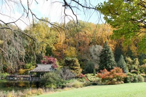 Brookside's Gude Garden in fall.