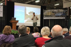 John Gidding speaking at Expo 2013.