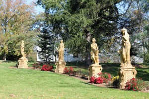 The Four Seasons Statues at Hershey Gardens.