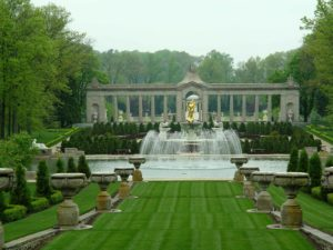 The main Versailles-like garden at Nemours.