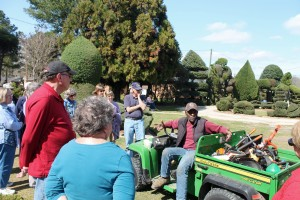 Our group visiting Pearl Fryar's incredible topiary garden in South Carolina last year.