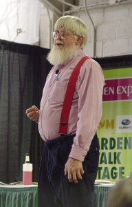 Roger Swain, speaking at a past Pa. Garden Expo.