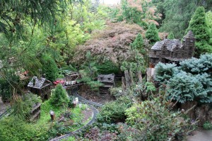 Morris Arboretum's outdoor garden railway is its signature attraction.