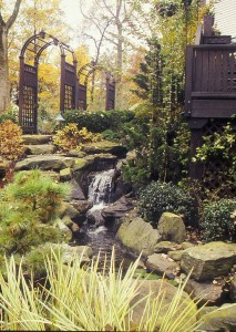 Attractive hardscaping is at its best in winter.