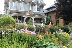 One of the many excellent gardens open to the public during Garden Walk Buffalo.