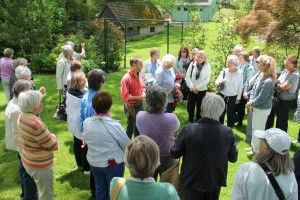 Here's one of our eager groups listening to Charles Cresson before exploring his wonderful private garden in Swarthmore.