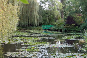 The bridge at Giverny is one of the most photographed garden scenes in the world.