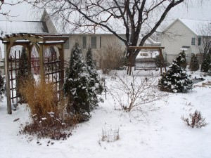 Structures, accessories and other hardscaping become stars in the winter landscape.