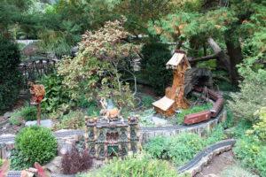 Morris Arboretum's garden railway.