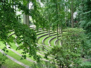 Swarthmore's famed outdoor ampitheater.