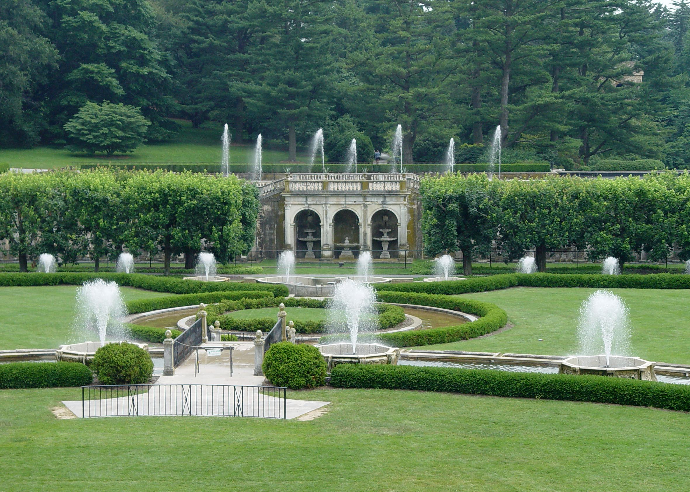 The Main Fountains At Longwood.