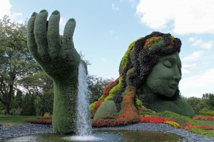 "The huge ""Mother Earth"" Mosaiculture at this summer's Montreal Botanical Garden competition."