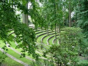 Scott Arboretum's amphitheater.