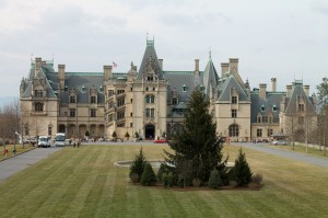 The front of North Carolina's Biltmore House.