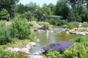 The Lerner Five Senses Garden at Coastal Maine Botanical Garden.