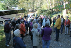 Our Lowee's tour group getting ready to see Brandywine Cottage gardens with David Culp.