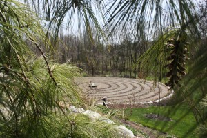 The Mateers' backyard labyrinth.