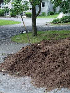 Bulk mulch is a lot cheaper than bagged. Do the math...