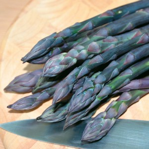 Asparagus is one of the few veggies that don't need to be replanted each season.