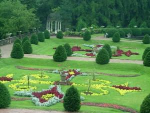 The formal Italian-style garden at Sonnenberg Gardens.