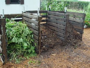 Compost bins: a sure sign of a successful gardener.