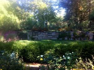 The perennial garden at Barnes Arboretum.