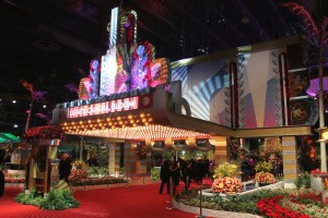The movie-marquee entry to the 2015 Philadelphia Flower Show.