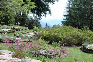 The Alpinum Garden overlooks Lake Maggiore.