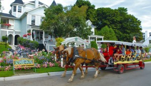 We'll be taking a horse-drawn wagon tour of Mackinac Island on the 2016 Michigan trip.