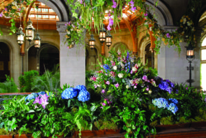 The Biltmore's foyer at Christmas.