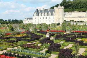 Here's Villandry's kitchen garden with the chateau in the background.