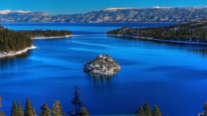 This is Lake Tahoe, where we'll be taking a paddleboat cruise.