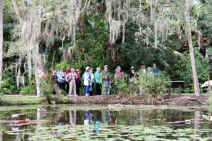 Some of our group touring McKee Gardens in Florida last winter.