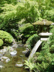 The Strolling Pond Garden in the Portland Japanese Garden.