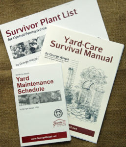 Three of my gardening booklets available as options.