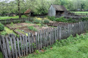 Landis Valley's four-square vegetable garden.